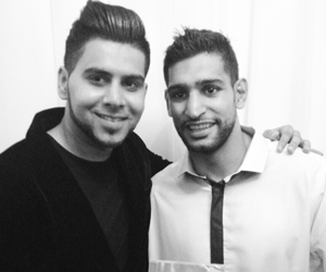 Presenting my album to Amir Khan