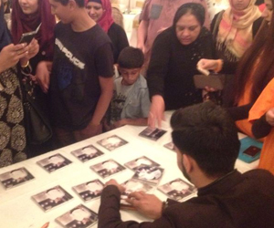 Album signing session